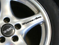 Trans Am Wheel Decals Set Of 8 Custom Size Colors Pontiac Firebird Ws6 Stock
