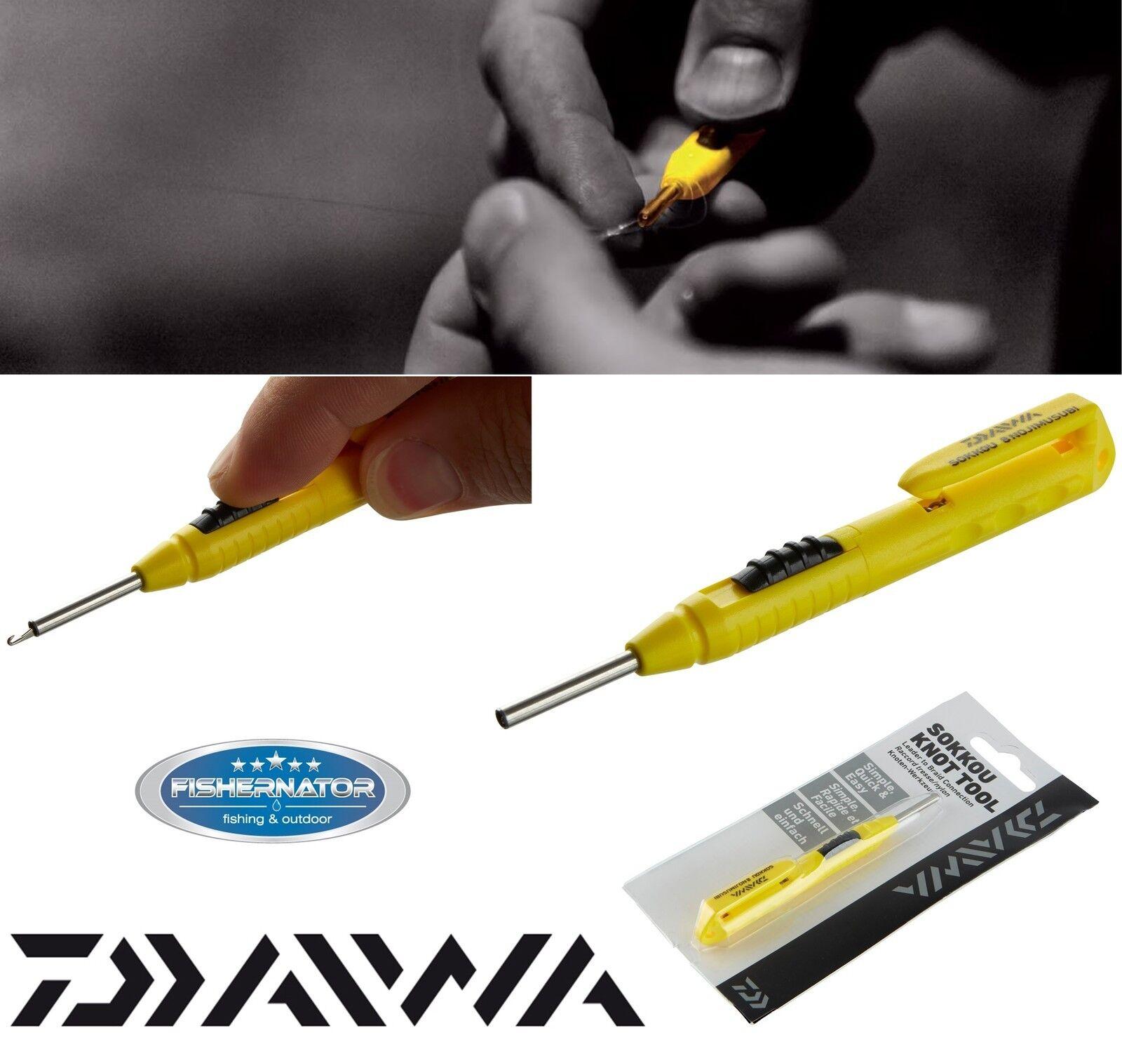 Daiwa Sokkou Knoten Tool 15800-205 Schnurverbinder 10cm gelb-einfach