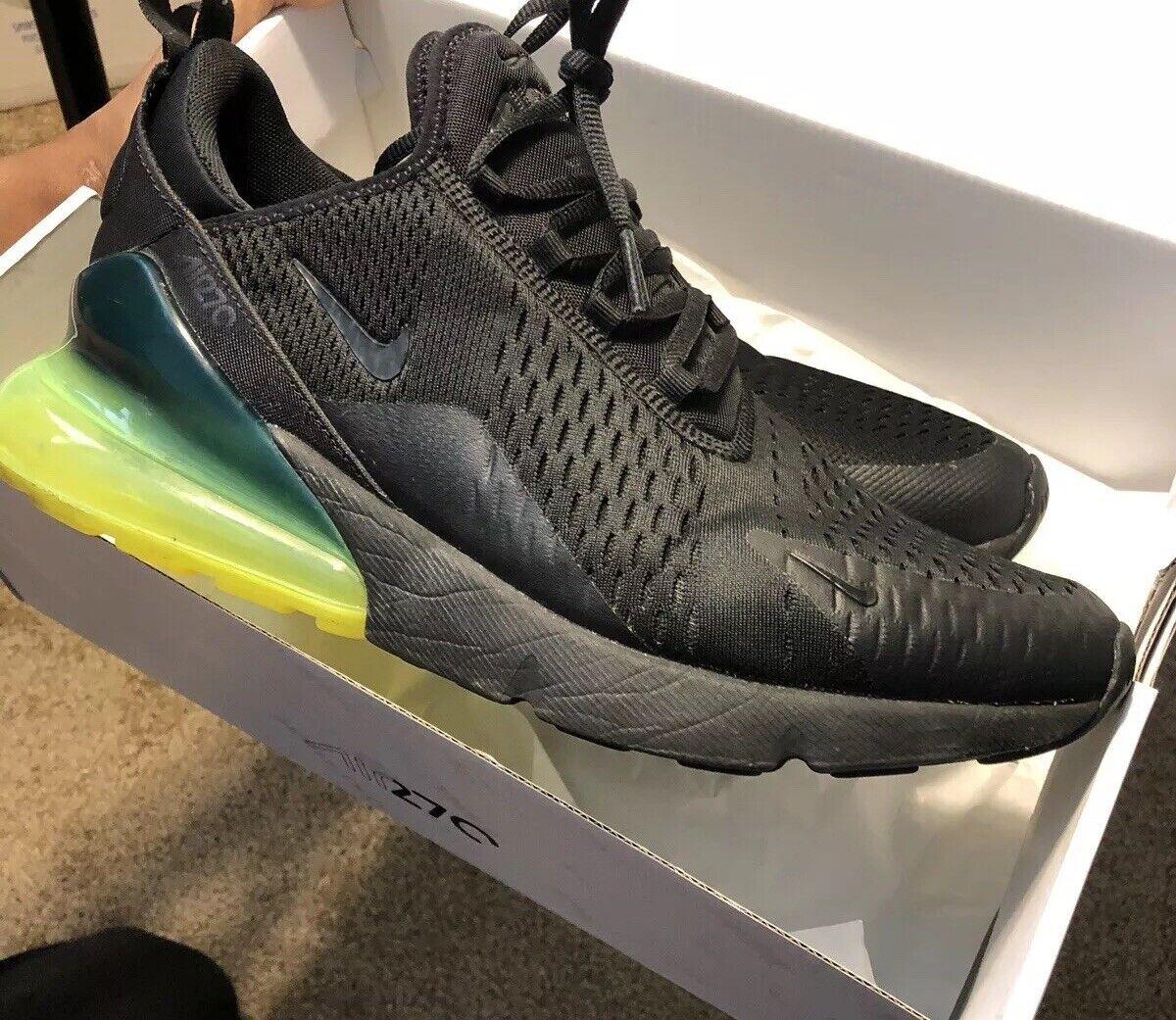 b3ab3cb25df7 Mens Nike AIR 270 Running shoes -Black -AH8050 011 -Sz 10.5 Volt MAX  nsuybn742-Athletic Shoes