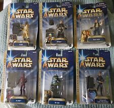 Star Wars 6 POTF Figures Bossk, Dengar, Han, R-3PO, R1-G1, Luke, New on Card