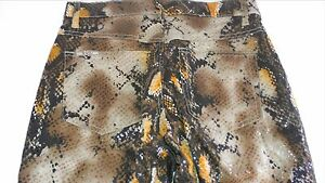 Revolt-Snakeskin-Jeans-Juniors-Scale-Feel-NEW-Womens-Pants-Stretch-Club-Sexy