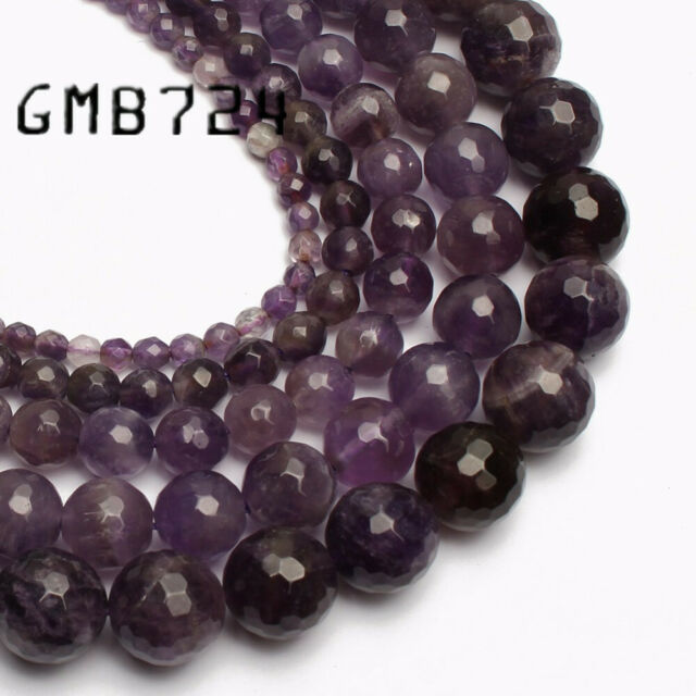 """Natural Stone Amethyst Quartz Gem Beads For Jewelry Making 15/"""" Beads of Cambay"""