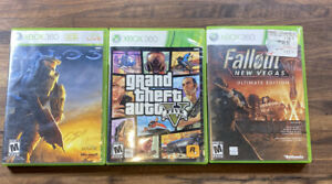 Lot-Of-3-Xbox-360-Games-Halo3-Grand-Theft-Auto-5-amp-Fallout-Nee-Vegas
