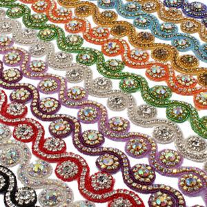 Image is loading 1Yard-3-3cm-Bridal-Costume-Beaded-Dress-Trimming- cc2c91a5c022