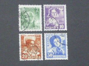 Schweiz Mi.Nr. 306-09 gestempelt - Neumünster, Deutschland - Schweiz Mi.Nr. 306-09 gestempelt - Neumünster, Deutschland