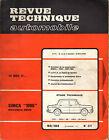 RTA revue technique automobile n° 277 SIMCA 1000 1969