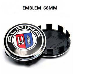 4-x-68mm-Emblem-ALPINA-Logo-auto-Radmitte-Radkappen-Auto-Emblem-Silber-cap
