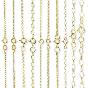 8f69cbd8de6ce Details about 9CT SOLID GOLD 16 18 20 22 24 28 OVAL ROUND BELCHER ROPE POW  CHAIN NECKLACE BOX