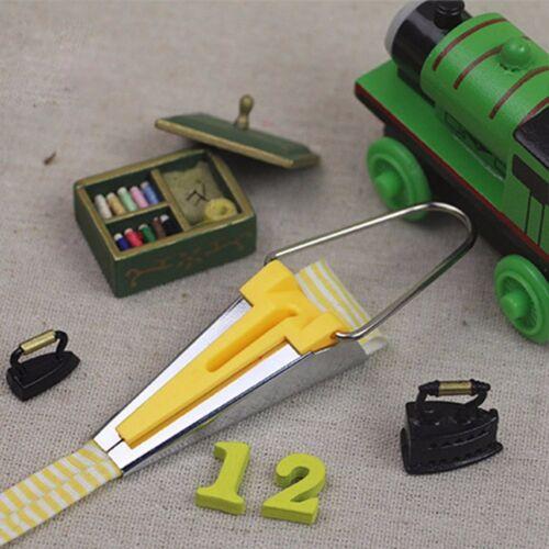 4Pcs New 6//12//18//25MM Fabric Bias Tape Maker Binding Tool Sewing Quilting #EX1