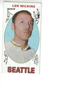 Len Wilkins Seattle Supersonics 1969 Topps Basketball Card #44 VG-EX+