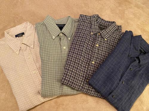 Men's Long Sleeve Linen Shirts Large - LOT OF 8 SH