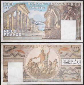 1000 FRANCS 1950 TUNISIE / TUNISIA - P29a - Banque de l'Algerie et de la Tunisie