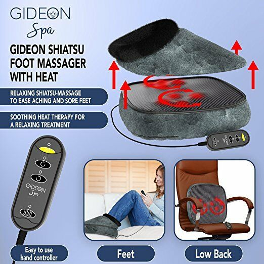 Gideon Quilted Shiatsu Foot Massager Cozy Heated Foot And Toe Warmer