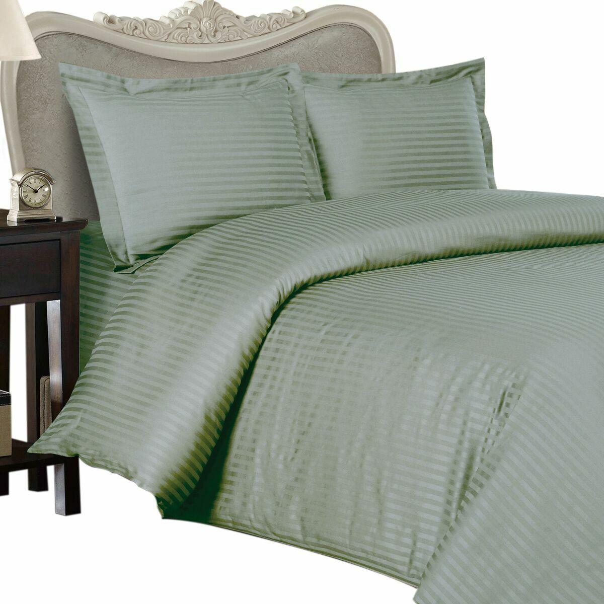 1000 Thread Count 100% Egyptian Cotton Sheet Set,1000 TC, TWIN XL , Sage Stripe