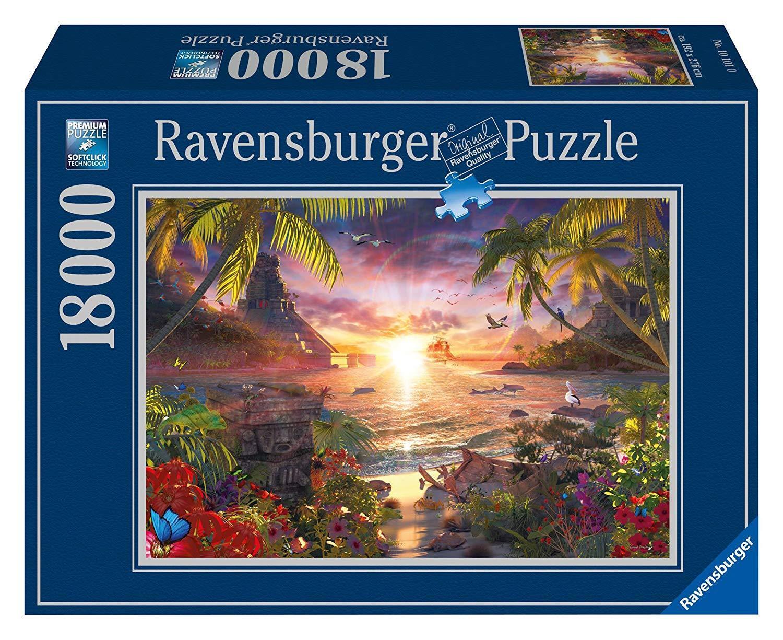 17824 Ravensburger Puzzle 18000 Teile - Paradiesischer Sonnenuntergang- Puzzle
