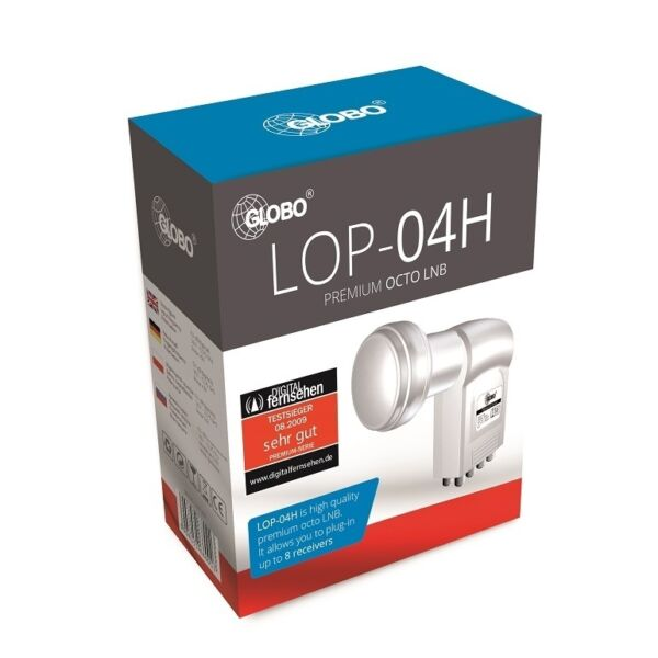 Diplomatisch Lnb Globo Premium Octo 0.1 Db Full Hd Tv Digital Sat For 8 Out Astra Hotbird Helder En Doorschijnend Qua Uiterlijk