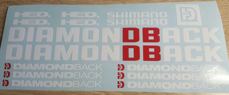 Diamond Back bicycle frame decals stickers kits