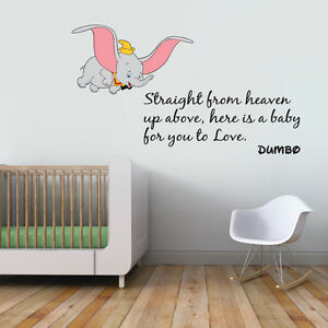 Image Is Loading LARGE Dumbo Quote Colour Children 039 S Wall  Part 69