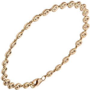 Tennis-Bracelet-From-585-Gold-Rose-Gold-With-27-Diamonds-0-88ct-18cm-Ladies
