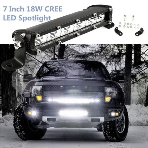 7inch 18W Cree Led Work Light Bar Flood Spot Suv Boat Driving Lamp Offroad 4WD
