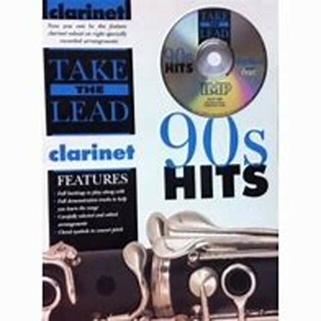 Take the Lead 90s Hits Clarinet CD & Sheet Music Book Madonna Simply Red S99