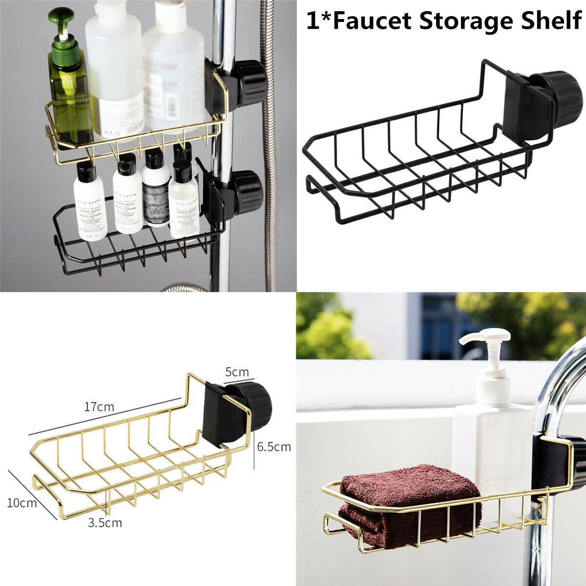 1xdrain Rack Storage Organizer Holder Shelf For Kitchen Sink Faucet Sponge Soap For Sale Online