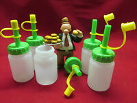 Condiment Squeeze Bottles Jar 3oz For Special Sauce 6 Count + Free Shipping