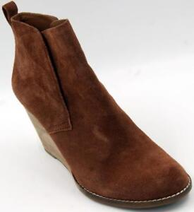 f9863147fbd5 Image is loading Lucky-Brand-Yoniana-Wedge-Booties-Chipmunk-Suede-Size-