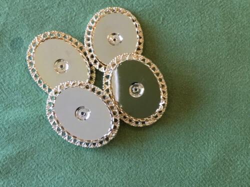 Oro plateado broche para el bordado 4 piezas