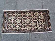 Old Traditional Persian Wool Brown 3x2 Oriental Rug Handmade Carpet Rug 50x100cm