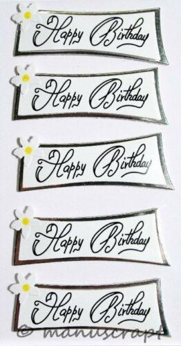 Geburtstag Happy Birthday Artoz Artwork 3D-Sticker Herzlichen Glückwunsch