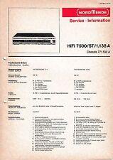 Service Manual-Anleitung für Nordmende HiFi 7500 ST 1.138 A