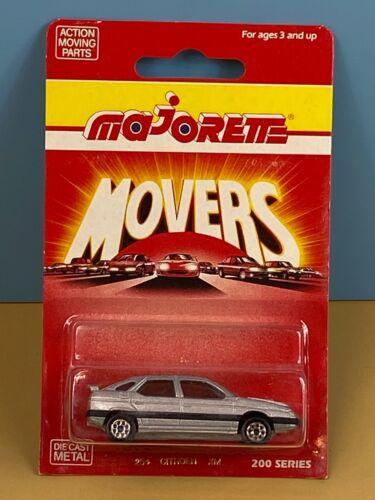 Vintage Majorette 200 Series Movers Carded NIP #254 Citroen XM Silver RARE