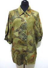 ARMANI JEANS VINTAGE '80 Camicia Donna Viscosa Woman Rayon Shirt Sz.L - 46