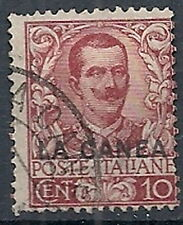1905 LA CANEA USATO FLOREALE 10 CENT - RR12229