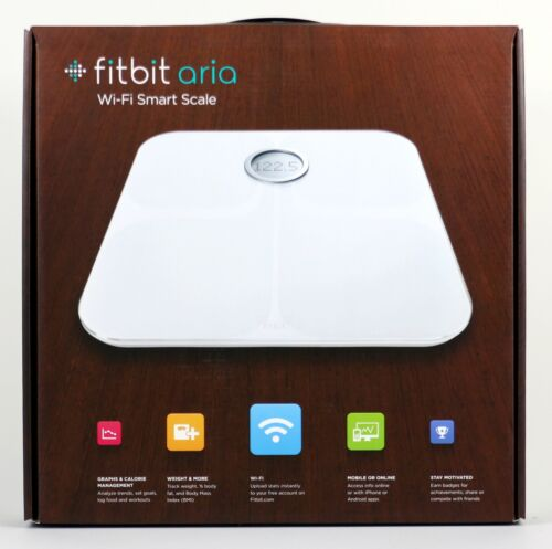 Fitbit Aria Wi-Fi Smart Scale WHITE FB201W - NEW!  USA SHIPS FREE