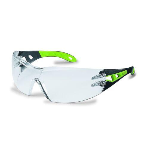 Uvex Schutzbrille Pheos 9192.225 schwarz//grün PC  farblos