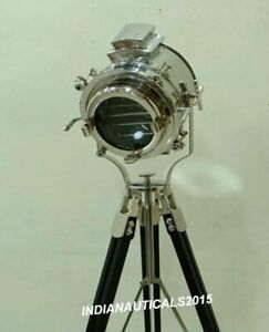 Industrial Nautical LED Spotlight with Tripod Floor Lamp Office and Home Decor