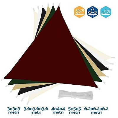 CelinaSun Tenda Parasole a Vela Giardino Balcone PES Poliestere Idrorepellente Triangolo 2,5 x 2,5 x 3,5 m Verde