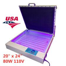 Us 20 X 24 80w Vacuum Led Uv Exposure Unit Precise Silk Screen Printing