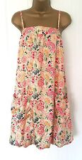 Women's Billabong BNWT silk cream & floral bubble sleeveless dress, size 4*