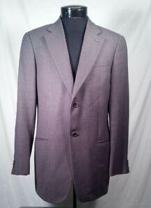 Armani-Collezioni-Blazer-Italy-Wool-Brown-Blue-Men-039-s-Size-40-R