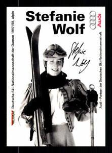 Stefanie Wolf Autogrammkarte Original Signiert Skialpin + A 192223