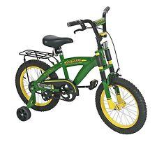"TOMY John Deere 16"" Boys Bicycle, Green ORIGINAL Metal Top Quality Green NEW"