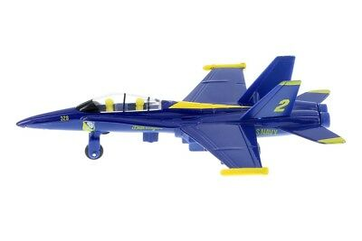 """Navy Military 7/"""" Diecast Pull Back To Go Toys Yellow F-14 Tomcat Aircraft U.S"""