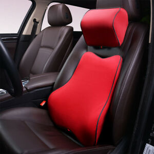 Image Is Loading Memory Foam Car Seat Neck Pillow Amp Lumbar