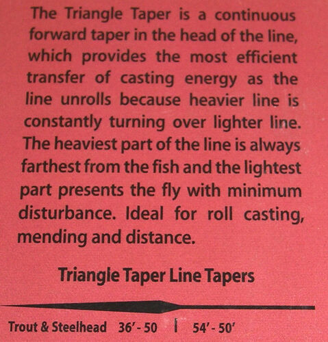 Wulff Triangle Taper Nymph TTN5F NEU WF-5-Floating Farbe gelb