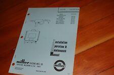 Miller Welder Mhg 20e Mig Gun Spare Owner Operator Operation Maintenance Manual