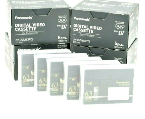 Panasonic AY-DVM63PQ MiniDV Cinta de Cassette Mini Dv Profesional Pack 5X Cassette