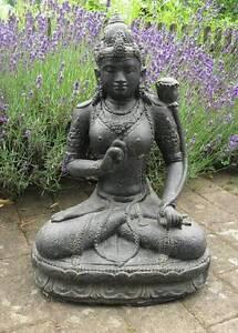 Das Bild Wird Geladen Shiva Devi Tara Indonesien Lavastein Skulptur Statue  Feng